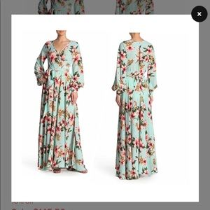 Megan LA maxi wrap dress